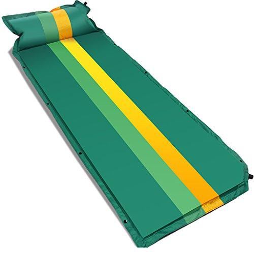 TYJ Picknick-Decken Automatische Aufblasbare Pad Outdoor Zelt Schlafmatten Feuchtigkeitsfeste Pad Individual Air Kissen Camping ( Farbe : Grün )