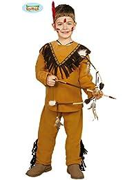 Kinder Kostüm Indianer Tato Oberteil Hose braun Stirnband Fasching Verkleidung (7- 9 Jahre (Gr. 122- 134))