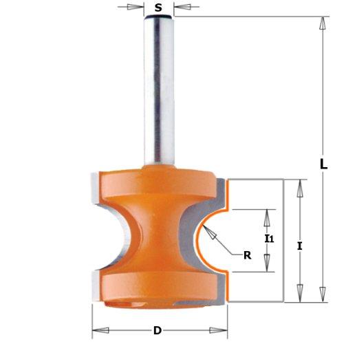 Cmt orange Tools 954,003,11halbrund HM Erdbeere 8R S D 25,44,8