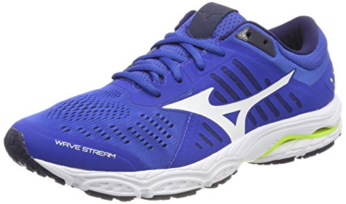 Mizuno Wave Stream Scarpe da Running Uomo, Multicolore (Classicblue/White/SafetyYellow) 41 EU