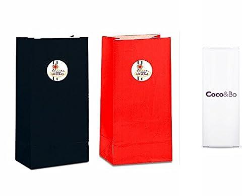 5x Coco & Bo–Las Vegas fabuleux Rouge et Noir Sacs à Surprises–Casino Poker Night Carte Fête/James Bond Thème