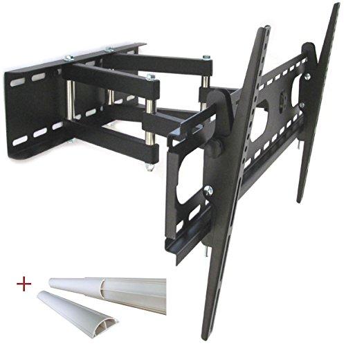 'Support mural TV Support orientable Double bras support mural pour TV jusqu'à 140 cm (55) compatibilité universelle pour TV tous fabricants avec VESA de 200 x 200 à 660 x 400 mm Distance du mur min. 12 cm, max. 47 cm