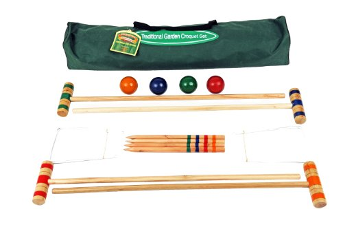 75cm Croquet Set In Canvas Tasche