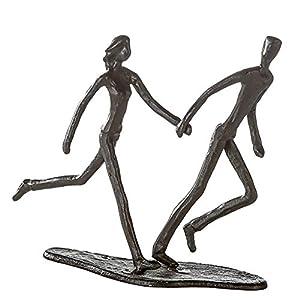 Casablanca 74569 Design Skulptur - Dekofigur - Running - Laufendes Paar Eisen brüniert 17 x 18 x 7 cm