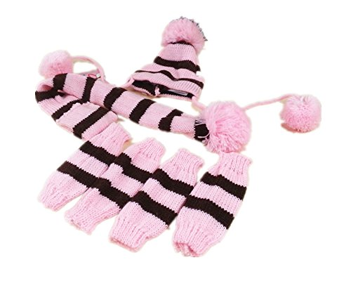 fully-3pcs-kit-bonnet-en-tricot-pour-animal-echarpe-collier-rigide-jambieres-chausse-pom-pom-vetemen