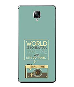 Fuson Designer Back Case Cover for OnePlus 3 :: OnePlus Three :: One Plus 3 (Radio Picture Take Me And Travel Graphics)