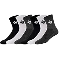 Fresh Feet Men's Organic Cotton Mid-Calf Socks (Multicolour, Free Size) - Pack of 6 Pairs