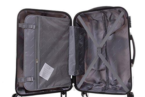 Reisekoffer 2060 Hartschalen Trolley Kofferset in 12 Motiven SET--XL-L--M-- Beutycase (Butterfly, M(Handgepäck)) - 8