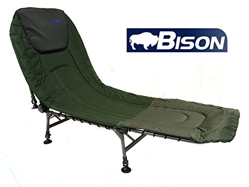 Bison Camping-Liegestuhl fürs Karpfenfischen, Bison 6 Leg Bedchair