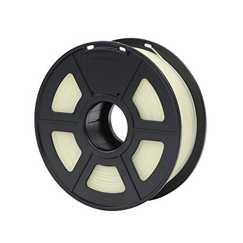 ANYCUBIC PLA 3D Drucker Filament, Toleranz beim Durchmesser liegt bei +/- 0,02mm, 1kg Spule, 1.75mm für 3D-Drucker und 3D-Stifte,Verschiedene Farben (Schwach Leuchtendes Grün)
