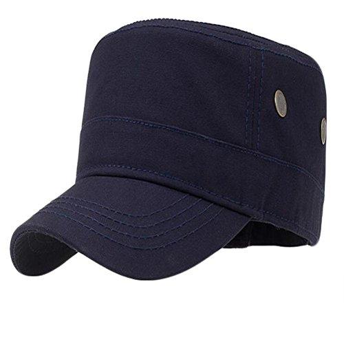 WXLQ Cap Cotone casuale Snap indietro cappello cinghia regolabile navy (f)
