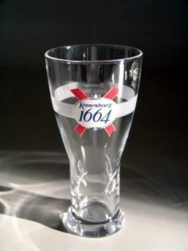 Kronenbourg 1664 half-painted glasses CE 300 ml / 10oz (Set of 2)