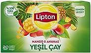 Lipton Mango ve Ananaslı Tropikal Bardak Poşet Yeşil Çay 20