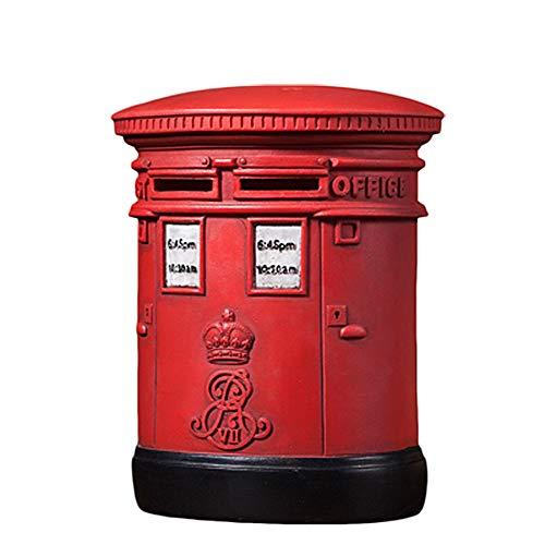 Mmyunx Caja De Dinero De Gran Capacidad, Hucha del Buzón De Correos, Caja De Dinero De Los Niños Decoración del Escritorio del Hogar De La Hucha De La Resina