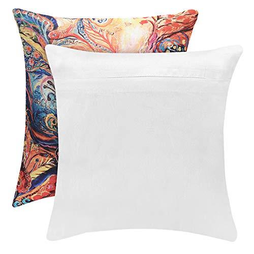 swasiya Jute Cushion Cover (Multicolour, 16x16)-Set of 5