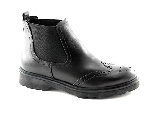 PREGUNTA IAL24765 nero scarpe donna stivaletti beatles inglese 39