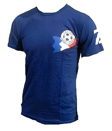 Ticila Herren T-Shirt Maitre Football Equipe Tricolore Frankreich France Fussball WM EM Designer Fan Tee Trikot blau M 46/48