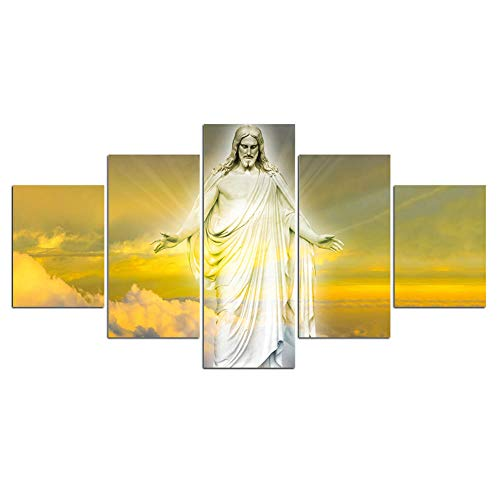 XuFan Leinwand Kunst Malerei Druck Modernes Christentum Bilder Kunst für Schlafzimmer Wanddekoration 20x30cm-2p 20x40cm-2p 20x50cm-1p Kein Rahmen