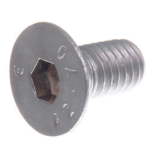 SECCARO Senkschraube M6 x 12 mm, Edelstahl V2A VA A2, DIN 7991 / ISO 10642, Innensechskant, 20 Stück