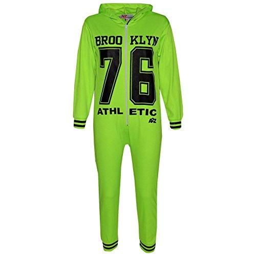 A2Z 4 Kids A2Z 4 Kids Kinder Mädchen Jungen 76 Athlectic - Brooklyn Onesie Neon Green 7-8