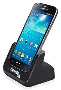 DONZO® Standard USB Dockingstation für Samsung Galaxy S4 mini I9190 & I9195 + USB Datenkabel + Ladegerät Netzteil - schwarz