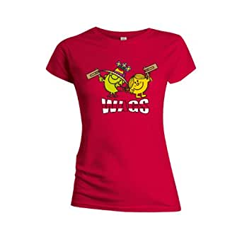 Little Miss Wags Red Womens T-Shirt Small