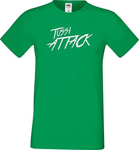 Shirtinstyle Männer T-Shirt Tussi Attack,Kelly, M