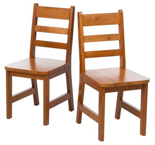 vermessen International 523-4P Kindes Stühle, 2Stück, Pecan -