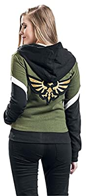 The Legend of Zelda Green Triforce Veste à Capuche Femme noir/vert