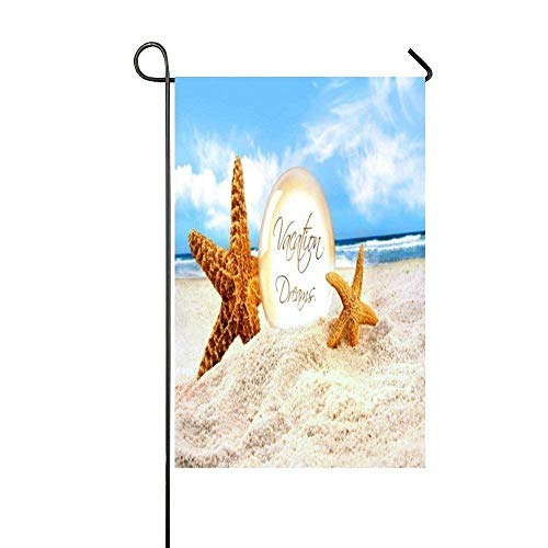 WEERQ I'm Happiest When Floating In The Sea Garden Flag - Double Sided Holiday Decorative Outdoor House Flag 12.5x18 inch (Italienisch-floating-charme)