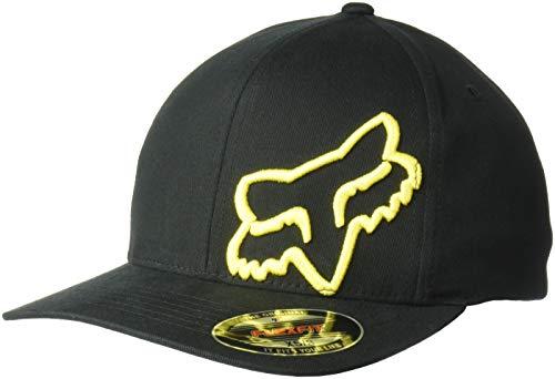 Fox Herren Flexfit Cap 45 Flex, Black/Yellow,  L/XL, 58379 -