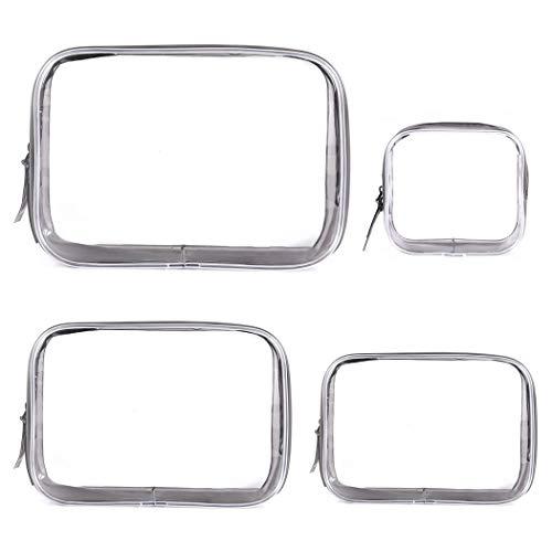 Kapmore 4pcs sac cosmétique clair simple trousse de maquillage trousse de toilette pour voyage