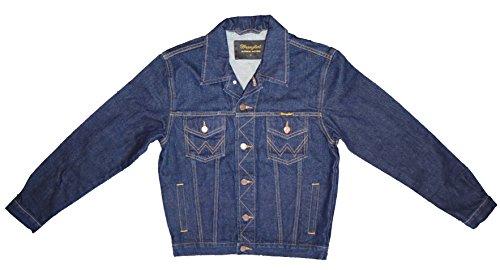 Wrangler Kinder Jeansjacke W43001040 YTH Jacket, Blau (stay blue), EU XL (Kinder-jeans Wrangler)