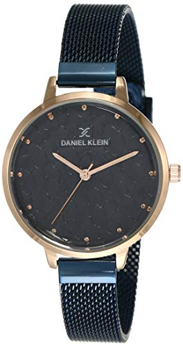 Daniel Klein Analog Blue Dial Women's Watch-DK11637-7