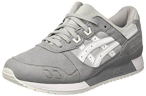 Asics Herren Gel-Lyte Iii Sneakers, Grau (Aluminum/White), 43.5 EU