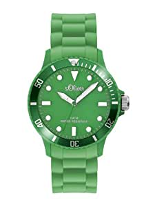 s.Oliver Unisex-Armbanduhr Medium Size Silikon grün SO-2315-PQ