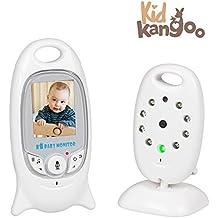 """Vigilabebés con cámara seguridad para bebé. Alcance de 200m con pantalla LCD de 2.0"""". Videovigilancia para bebés con visión nocturna y diurna automática. Vigila bebés con zoom bidireccional"""