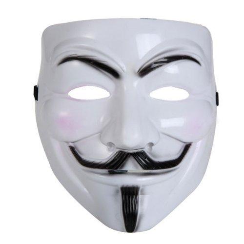Vendetta Maske 12 Stück Guy Fawkes Anonymous Karneval -