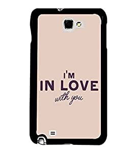 FUSON Am Love With You Designer Back Case Cover for Samsung Galaxy Note N7000 :: Samsung Galaxy Note I9220 :: Samsung Galaxy Note 1 :: Samsung Galaxy Note Gt-N7000