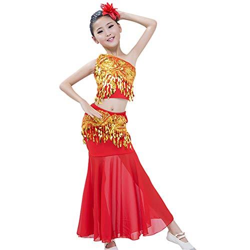 Daytwork Tanzsport Bekleidung Mädchen Röcke Bauchtanz - Belly Moderner Dance Costumes Tanzkleidung Tanzkostüme Fasching Kostüme Darbietungen Kleidung Fischschwanzrock ()
