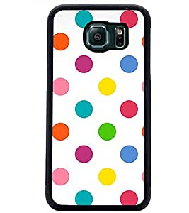 PrintDhaba Coloured Dots D-1233 Back Case Cover for SAMSUNG GALAXY S6 (Multi-Coloured)