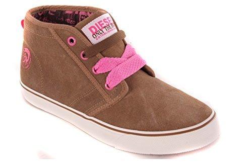 Diesel baskets femme chaussures high#19 fermeture marron