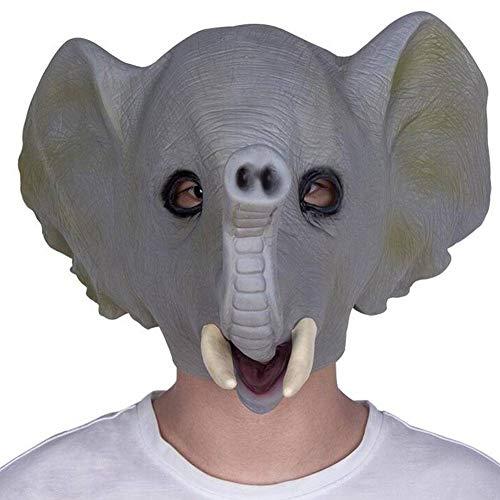 QWE Máscara de Animal Linda de Halloween cos Pelucas de látex de Elefante máscara de Mascarada de Fiesta
