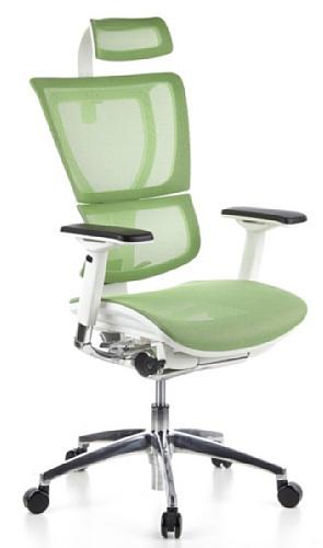 HJH OFFICE 652812 Bürostuhl / Chefsessel Ergohuman Lady Netz-Stoff grün