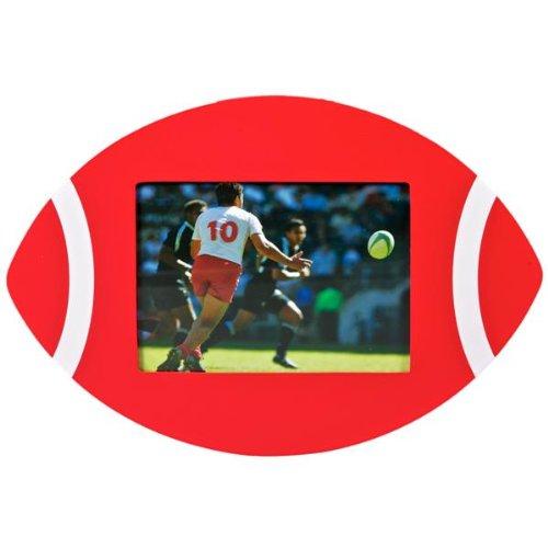 Ballon de Rugby-Cadre Photo-Rouge/blanc