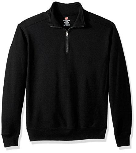 Hanes Herren Nano Quarter-Zip Fleece Jacket Sweatshirt, schwarz, 3X-Large
