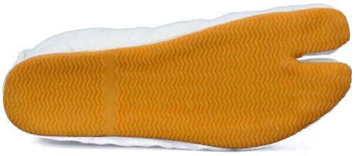Chaussures d'Art Martiaux Tabi Matsuri Cushion 5 Clips Importe du Japon Blanc