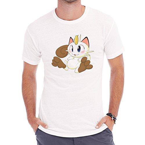 Pokemon Meowth Persian Normal White Herren T-Shirt Weiß