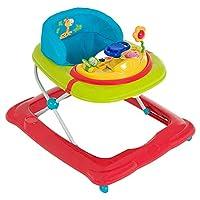 Hauck Player - Andador a partir de 6 meses hasta 12 kg, andador con música, mesa de juego multifuncional con ruedas, asiento acolchado y desmontable, regulable en altura, Jungle Fun (colorido)
