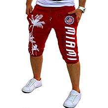 ZhiYuanAN Hombres Pantalón Corto Impreso Gimnasio Sport Jogging Pantalones Shorts Casuales De Playa Elastizada Bermudas Con Bolsillos